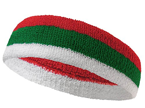 COUVER National Country Flag color Headband, (1 piece) -