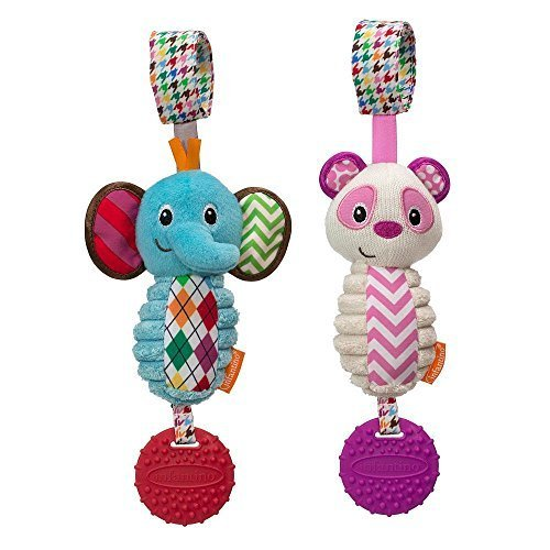 Infantino Tag Along Chimes - Elephant/Panda by (Tag Along Chimes)