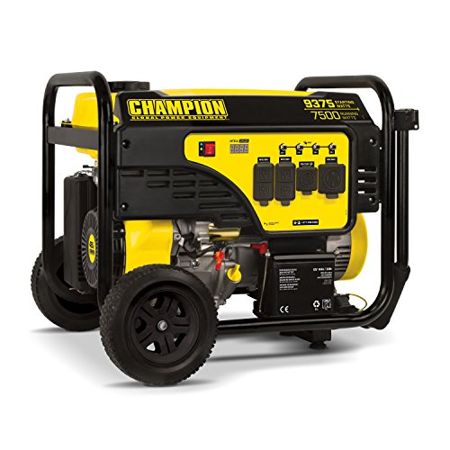 Champion Power Equipment 100538 Portable Generator, 7500-Watt, Black/Yellow