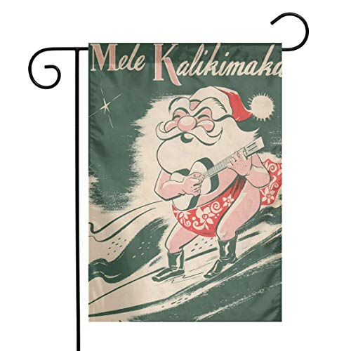 MINIOZE Mele Kalikimaka Surfing Santa Christmas Hawaii Themed Welcome Mailbox Small Jumbo for Outdoor Decorations Ornament Picks Garden House Home Yard Traditional Decorative Front 12