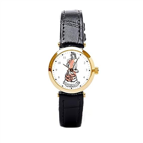 Correas de reloj de piel relojes correa de cuero español Flamenco Vintage: Amazon.es: Relojes
