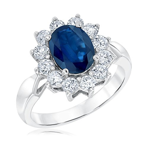 Sapphire and Diamond Ring 1ctw