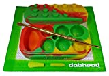 xl dab containers - Silicone Red/Yellow/Green Multi Chamber Container Jar - Non Stick Green Mat - Gold Tool With Silicone Tips