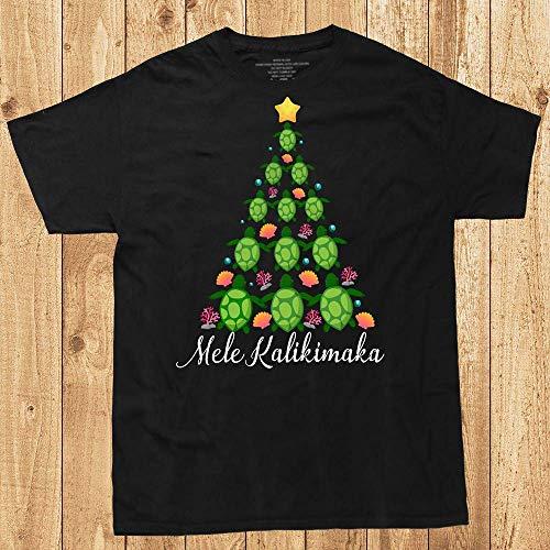 Turtle Christmas Tree Mele Kalikimaka Hawaii Honu X-mas Holiday Gift Customized Handmade T-Shirt Hoodie_Long Sleeve_Tank - Tree Gift Mele Kalikimaka