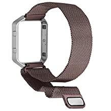Fitbit Blaze Bands, SKYLET Stainless Steel Milanese Accessories Loop with Metal Frame for Fitbit Blaze Wristband (No Tracker)