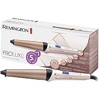 Remington Fer à boucler, Boucleur Conique Proluxe Céramique Avancée Grip Tech, Boucles Longue Tenue, Technologie Intelligente de Température - Accessoire Inclus CI91X1