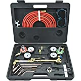 Gas Welding and Cutting Kit Portable Acetylene Oxygen Torch Set Welder Regulator