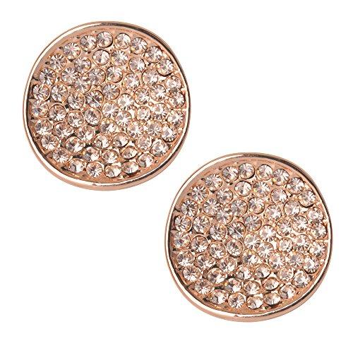 JFUME Round Cubic Zirconia Earrings
