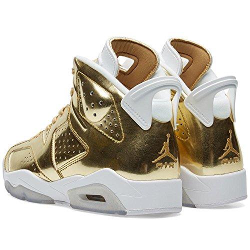 dffe0b7814e73c hot sale Nike Mens Air Jordan 6 Retro Pinnacle Metallic Gold White Leather