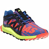 adidas Performance Boys' Vigor Bounce j Trail Runner, Blue/Black/Electricity, 6 M US Big Kid