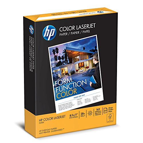 Colored Laser Paper (HP Paper, Color LaserJet Poly Wrap, 28lb, 8.5 x 11, Letter, 98 Bright, 500 Sheet / 1 Ream (205050R) Made In The USA)