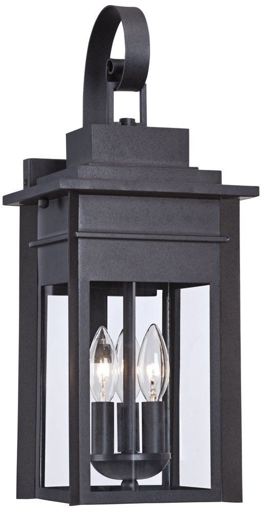 Bransford 19'' High Black-Speckled Gray Outdoor Wall Light by Franklin Iron Works
