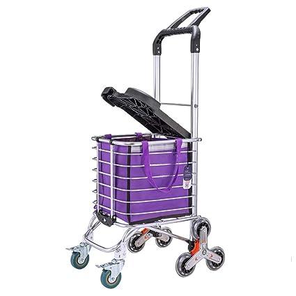 e8eaaa2a55d5 Amazon.com: ZSLLO Stair Climbing Shopping Cart, Household Sturdy ...