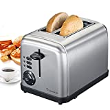 hello kitty easy liner - Bonsaii T860 2-Slice Stainless Steel Toaster with Extra Wide Slots and Variabel Temperature Control; Bagel, Defrost, Cancel Buttons and Easy Clean Removable Crumb Tray