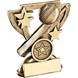 Lapal Dimension BRZ/GOLD CRICKET MINI CUP TROPHY - (1in CENTRE) 3.75in