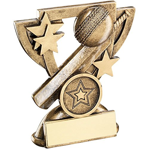 Lapal Dimension BRZ/GOLD CRICKET MINI CUP TROPHY - (1in CENTRE) 3.75in by Lapal Dimension