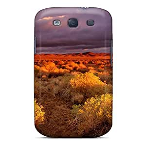 Durable Case For The Galaxy S3- Eco-friendly Retail Packaging(dark Clouds Over Desert)