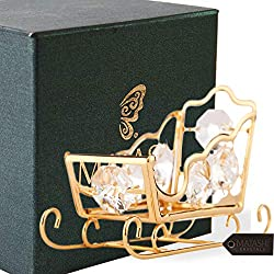 Gold Plated Highly Polished Sleigh Ornament