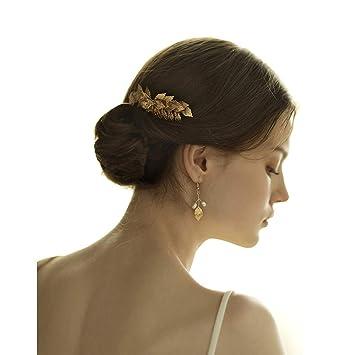 Amazon Com Fashion Festival Bridal Gold Silver Leaf Updo Hair Pin