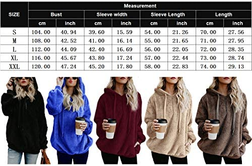 Doreyi Womens Hooded Sweatshirt Fuzzy Fleece Winter Warm Soft Oversized Sweatshirts Pullover Hoodie with Pockets