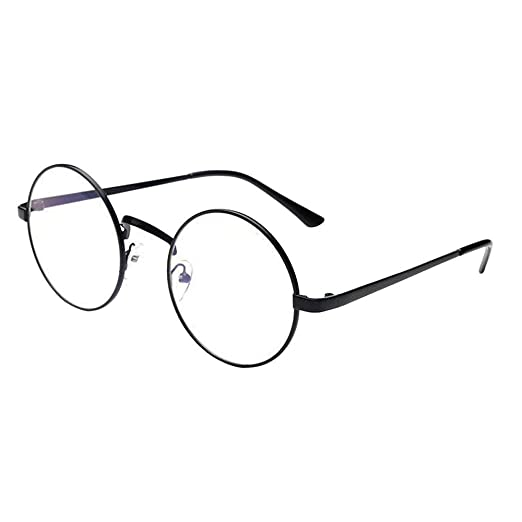 2cb8ceacd50e3 Amazon.com  TANGSen Fashion Unisex Casual Classic Glasses Women Men Vintage  Metal Frame Mirror Rounded Glasses  Clothing