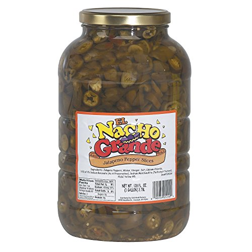 l El Nacho Grande Jalapenos Slices (1 gal. jar, 4 ct.) - Canned Vegetables [Bulk Savings] ()