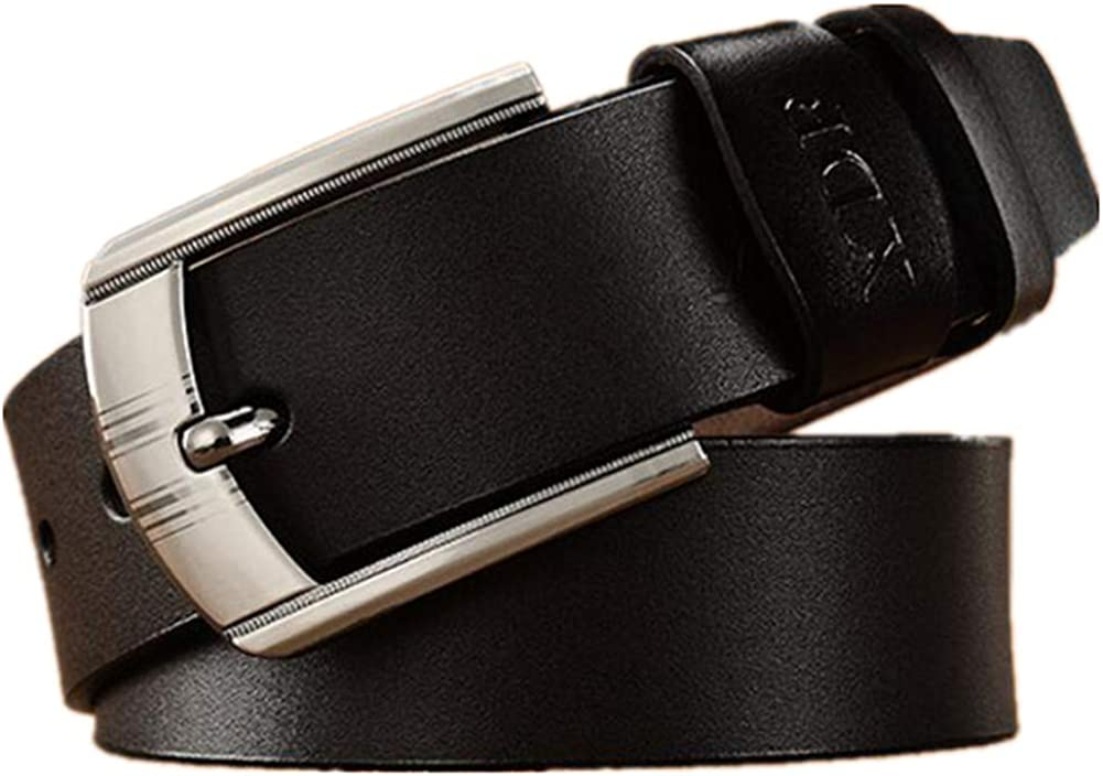 XUELIZHOU Mens Pin Buckle Belt Casual Retro Ultra-stretch Jeans Belt Belt