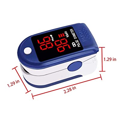 WI Fingertip Blood Oxygen Saturation Monitor with LED Screen Digital Readings Lightweight: Toys & Games