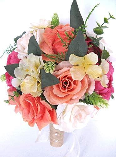 Amazon Com 17 Piece Package Wedding Bouquet Bridal Bouquet Set
