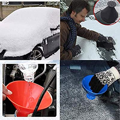 Magic Car Ice Scraper,Round Windshield Ice Scrapers Tool Portable Cone Shaped Round Funnel: Automotive