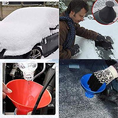 Magic Car Ice Scraper,Round Windshield Ice Scrapers Tool Portable Cone Shaped Round Funnel: Automotive
