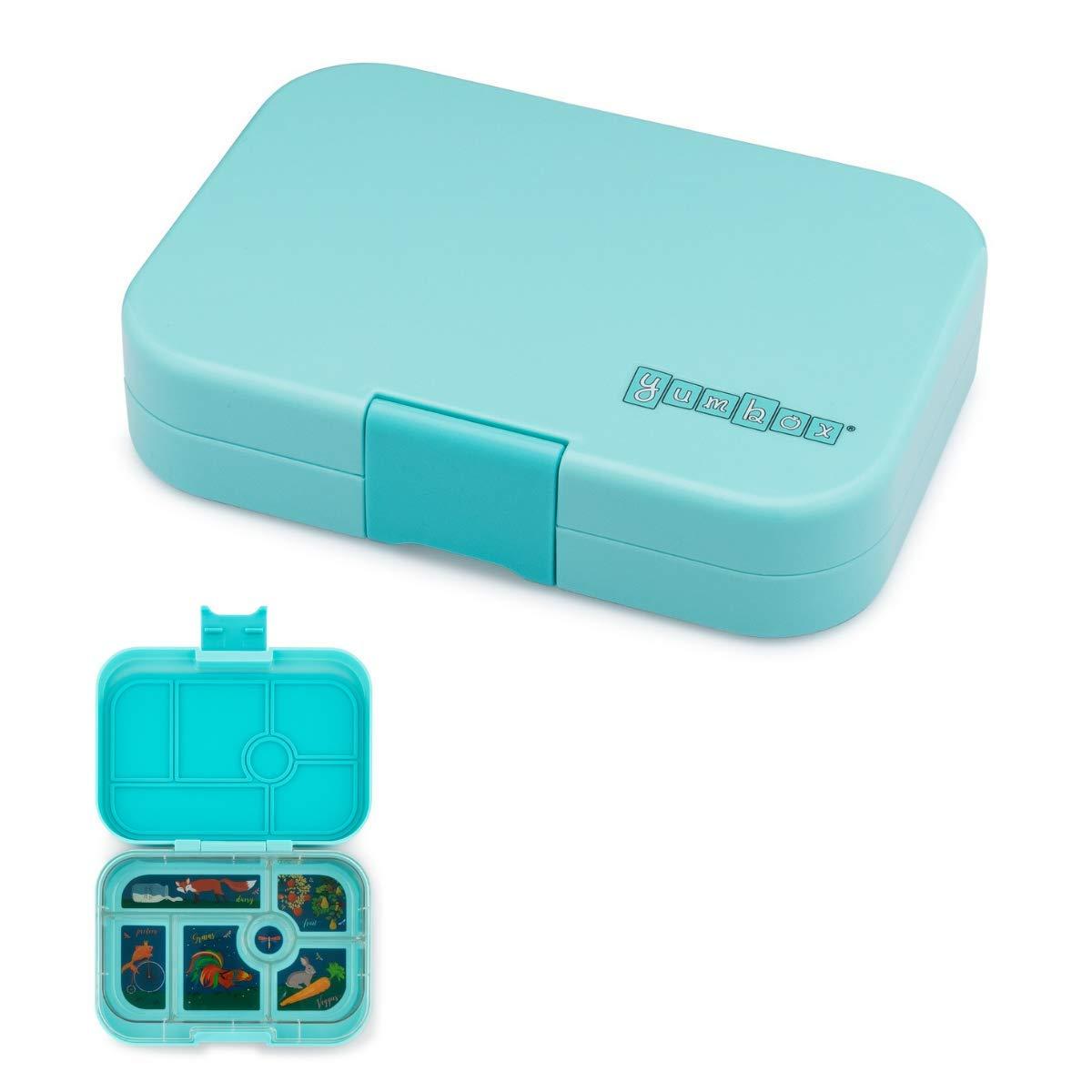 YUMBOX Original (mit 6 Fächern) - Brotbox Brotdose Lunchbox Bento Box mit Fester Fächer-Unterteilung - auslaufsichere Brotdose für Schule - ideal zur Einschulung (Luna Blau (ohne Namen)) B07NYYQGFV | In hohem Grade geschätzt und weit vertra