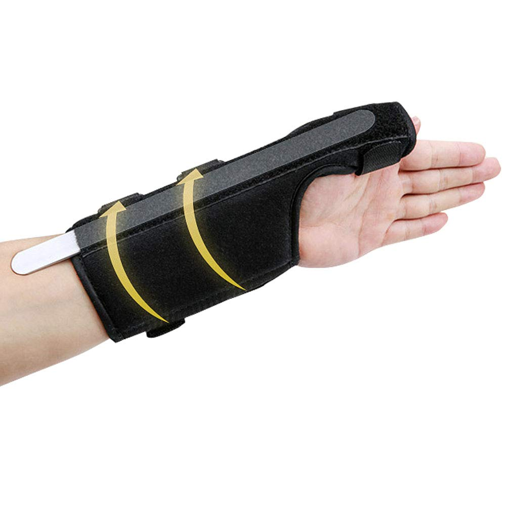DWhui Injured Support Finger Strap Finger Wrist Protector, Helps Relieve Symptoms of Carpal Tunnel Syndrome,Moderate Stabilizing Support,Left,S