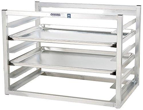 Channel Manufacturing AWM-6 6 Pan Side Load Wall Mount Sheet / Bun Pan Rack - Assembled