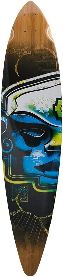 Mayan Head Longboards Bamboo Skateboards Pintail Trurute