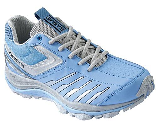 GRAYS G8000 Ladies Hockey Shoe, Blue/Silver, UK4 by Grays