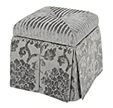 Cheap Jennifer Taylor Home Stacy Collection Modern Upholstered Nail Trim Hand Tufted Square Storage Vanity Footstool Bench, Gray