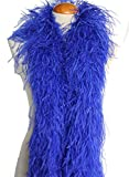 4ply Ostrich Feather Boas, Over 20 Colors to Pick Up (Royal Blue)