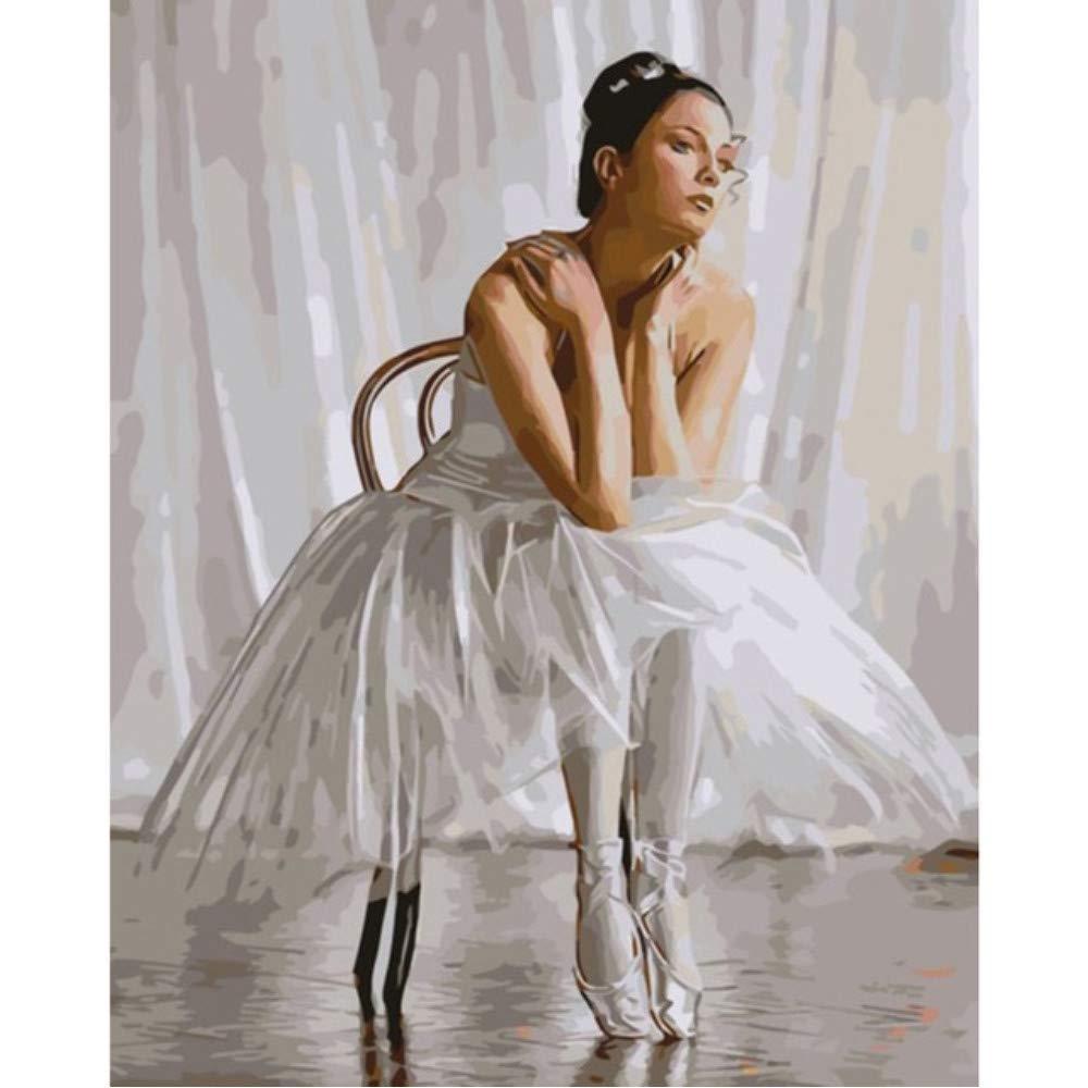 Zxfcczxf Cuadro Sin Marco Pared En La Pared Marco Pintura Al Óleo Acrílica Por Números Dibujo Abstracto Por Números Pintura De Regalo Única Por Números Bailarina De Ballet 8b7fbe