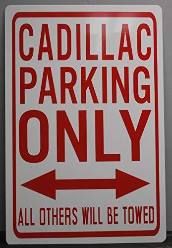 Motown Automotive Design Metal Street Sign Cadillac Parking ONLY 12 X 18 HOT Rod Muscle CAR BAR Garage Man CAVE Restaurant Wall Art Gift Elvis Eldorado DEVILLE Fleetwood
