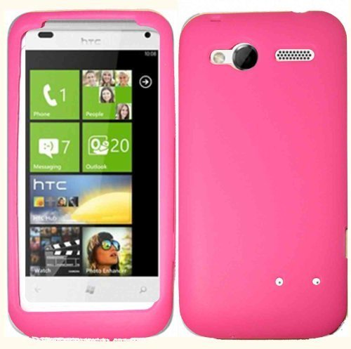 Hot Pink Silicone Jelly Skin Case Cover for HTC Radar 4G (Case Htc Radar)