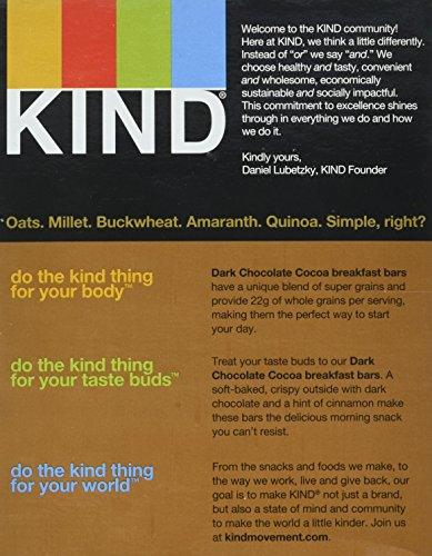 KIND Breakfast Bar Dark Chocolate Cocoa, 4 ct of 2 breakfast bars, 7.1 Oz