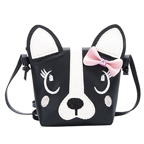 JD Million shop Cute Dog Children Handbag Girl Shoulder Bag Baby PU Leather Crossbody Purse PU