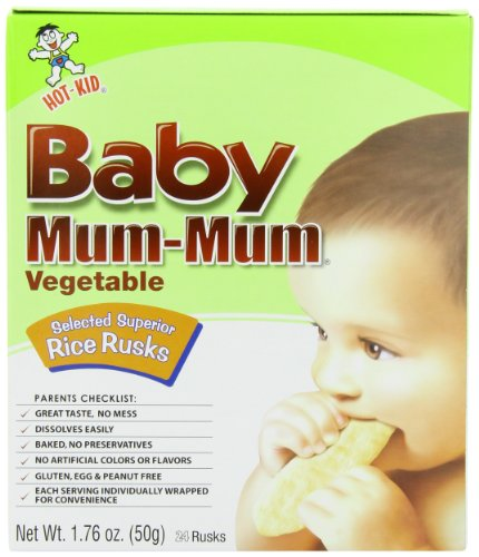 Hot Kid Baby Mum Mum Biscuits, Vegetable, 1.76 Ounce (Pack of 12)