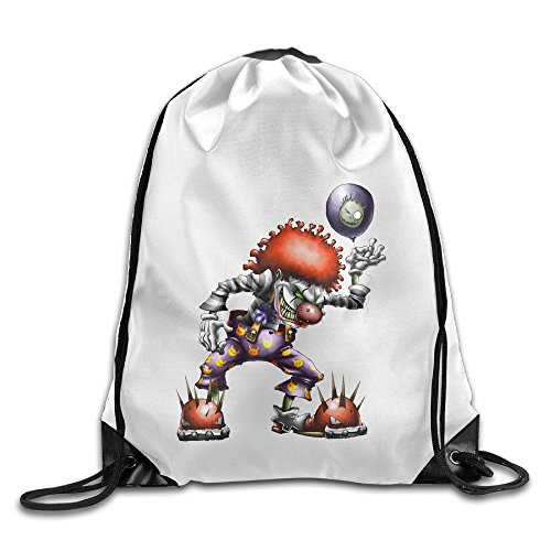 Bekey Clown Character Drawstring Backpack Sport Bag For Men & Women For Home Travel Storage Use Gym Traveling Shopping Sport Yoga (Female X Men Characters)