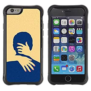 "Hypernova Defender Series TPU protection Cas Case Coque pour Apple Iphone 6 PLUS 5.5 [Amarillo Amor minimalista Limpio""]"