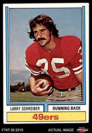 ee661cfdf 1974 Topps   517 Larry Schreiber San Francisco 49ers (Football Card) Dean s  Cards 4