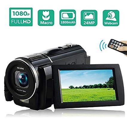 Videocamara Cámara Video Full HD 1080P 30FPS Camara De Video Cámara Macro Videocámara de 24 MP con Control Remoto