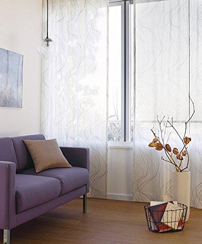 東リ 2色のカラーで表現した大胆な線描き カーテン1.5倍ヒダ KSA60468 幅:200cm ×丈:170cm (2枚組)オーダーカーテン B078C6QV15