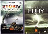 The Discovery Channel : Storm Chasers Complete Season two , The History Channel Killer Weather 7 Episode Box Set Collection : Tornadoes Nature's Death Spirals , Hurricanes Deadly Wind Deadly Rain , Nor'easters Killer Storms ,Tsunami Killer Waves , Blizzards White Out ,Flash Floods Deadly Downpour , Firestorms Nature Out of Control : All About Bad Weather 2 Pack : 4 Disc Set - Approx 700 Minutes